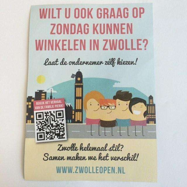 Petitie voor winkelen op zondag in Zwolle. De consument bepaalt. #zwolle #zondagopen #zwolleopen #winkelstraten #shoppingstreets