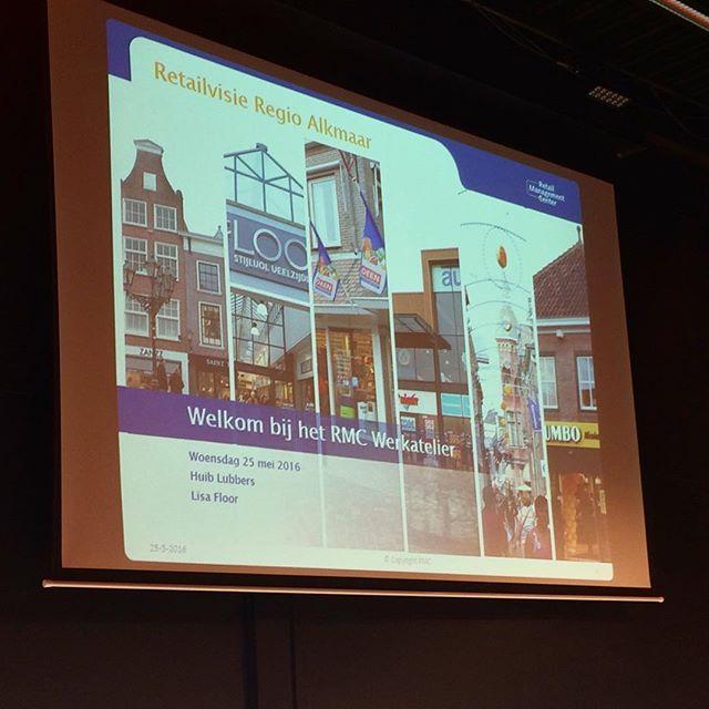 Klaar voor het RMC werkatelier! Presentatie regionale retailvisie voor regio Alkmaar! #rmcwerkatelier #samenwerken #sterkewinkelgebieden #binnenstad #detailhandel