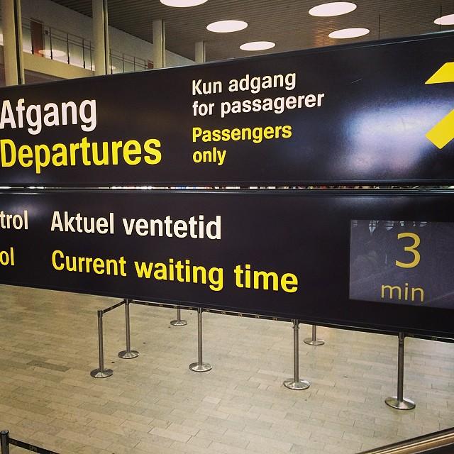 Actief #wachtrijmanagement op Copenhangen AirPort