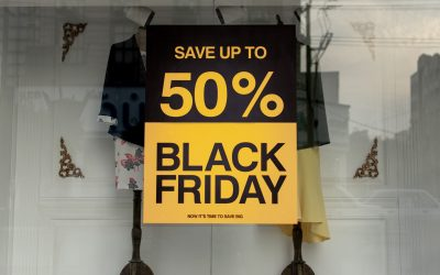 Voorspelling winkelstraatdrukte Black Friday